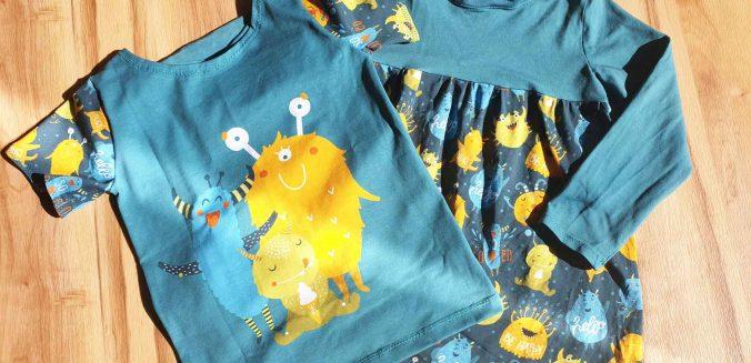 Frühlingskleid und T-Shirt für die Kinder